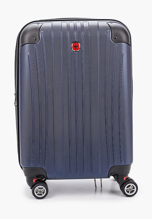 женский чемодан wenger, синий