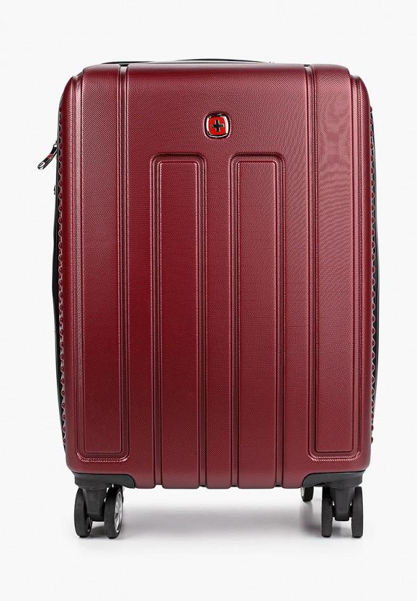 женский чемодан wenger, бордовый