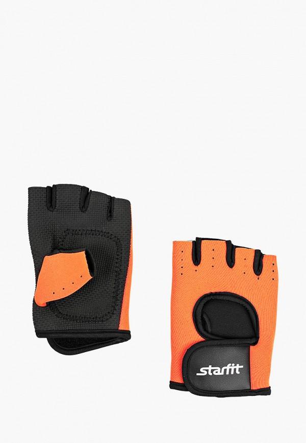 женские перчатки starfit, оранжевые