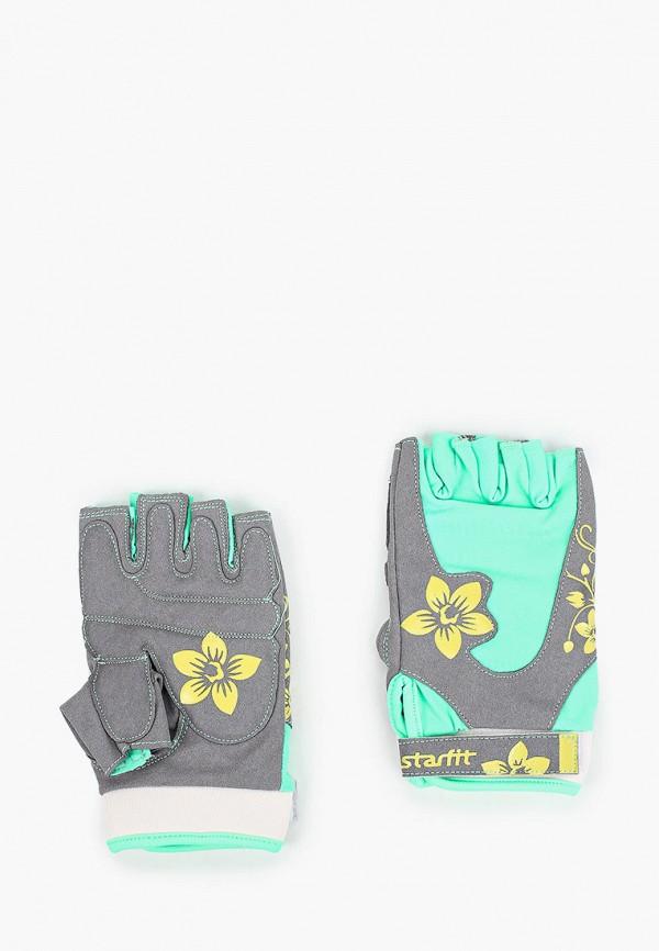 женские перчатки starfit, зеленые