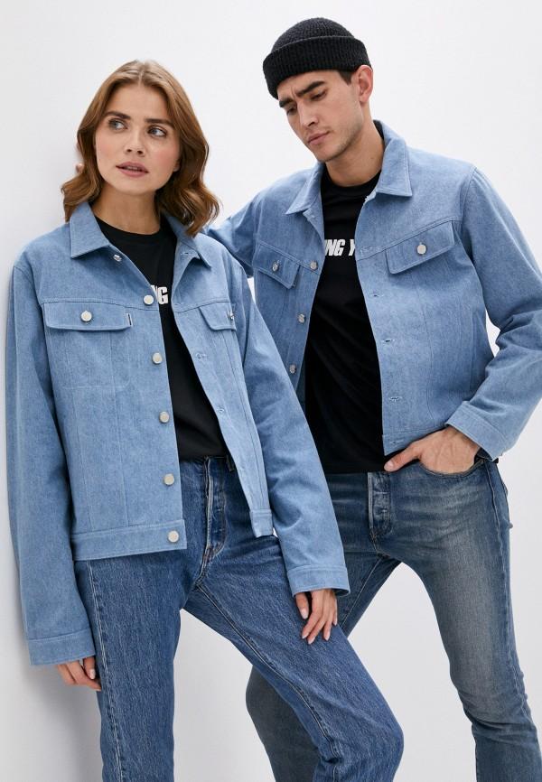 Куртка джинсовая Artem Krivda Artem Krivda  голубой фото