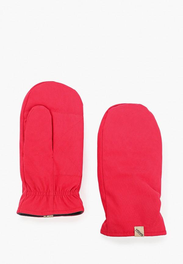 женские варежки bask, красные