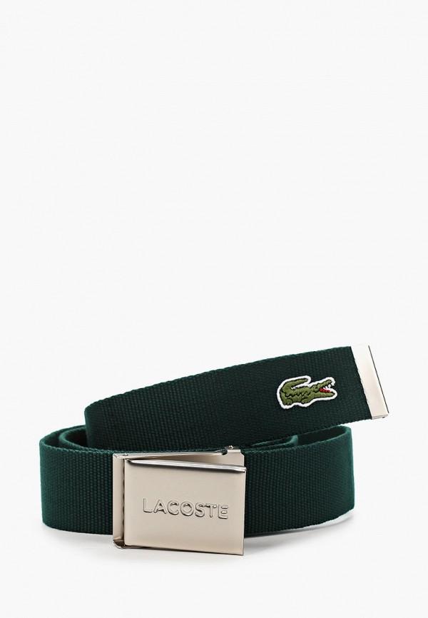 женский ремень lacoste, зеленый