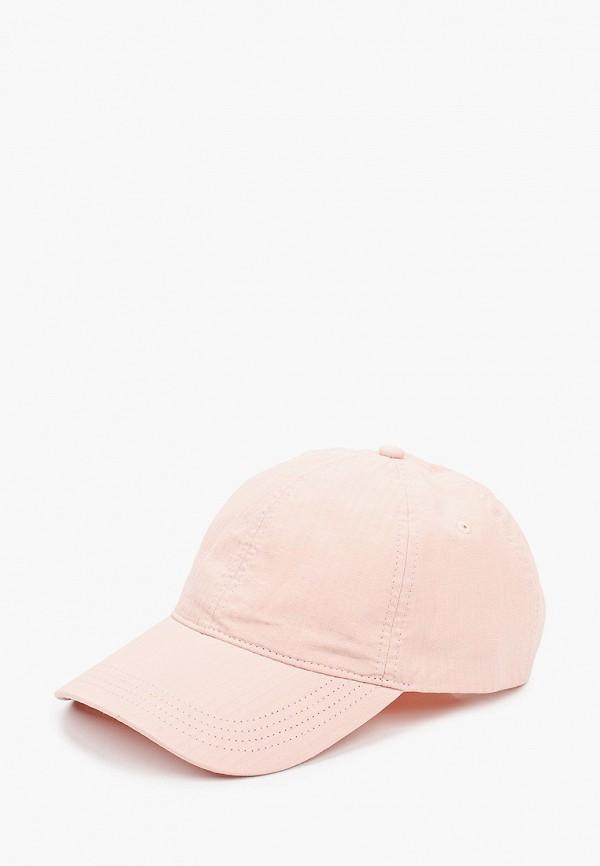 женская бейсболка lacoste, розовая