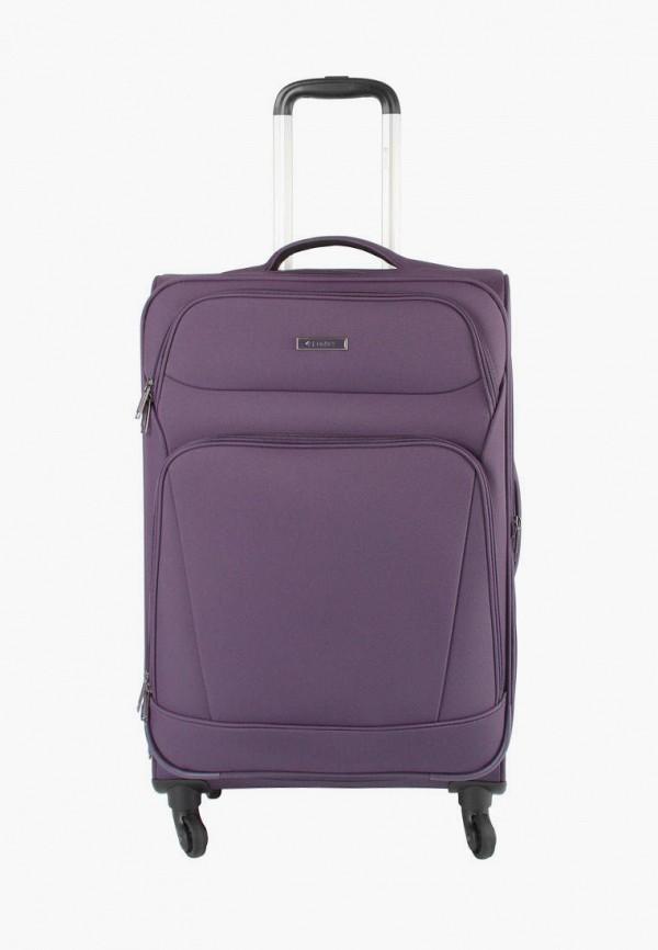 женский чемодан edmins, фиолетовый