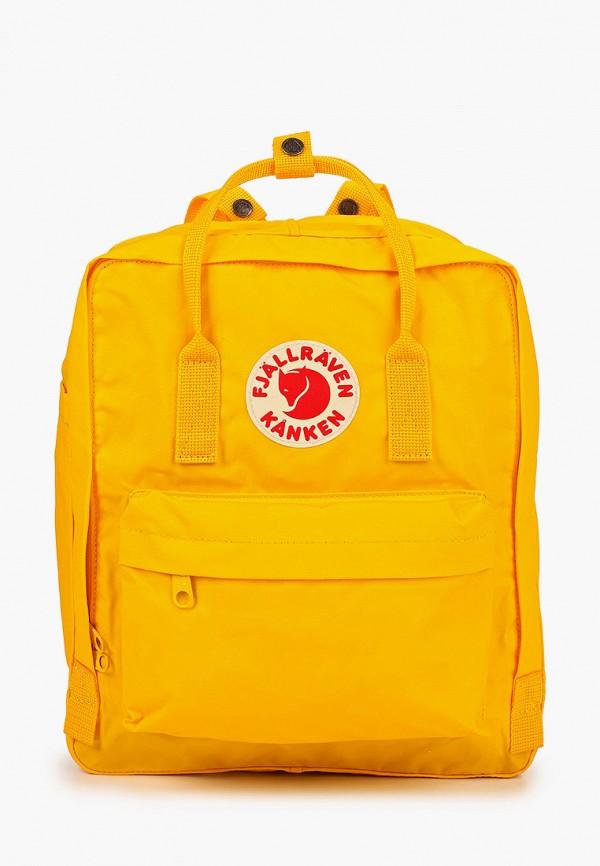 женский рюкзак fjällräven kånken, желтый