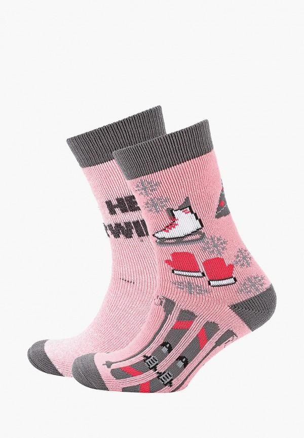женские носки columbia, розовые
