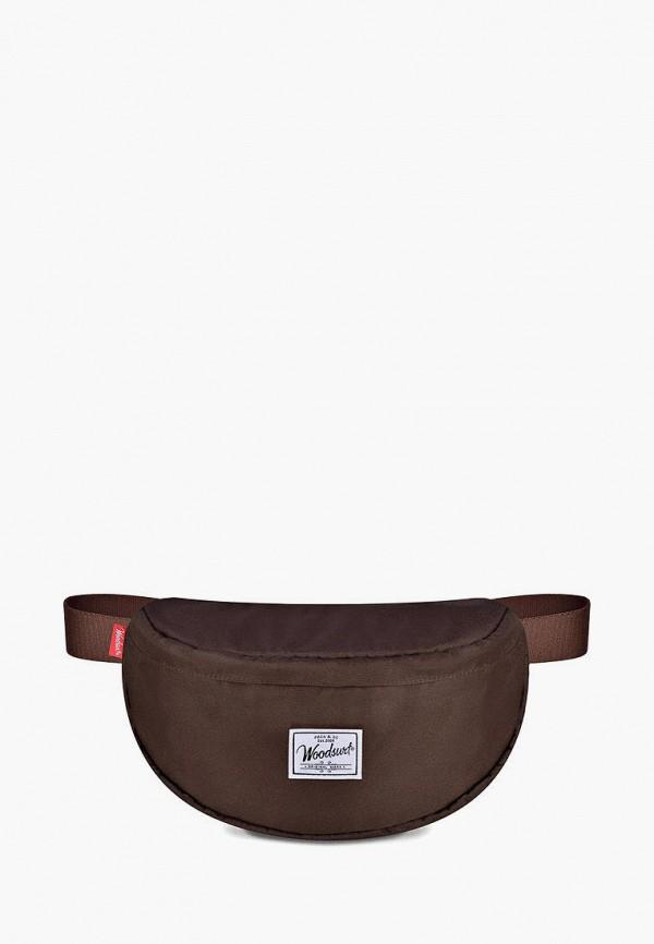женская поясные сумка woodsurf, коричневая
