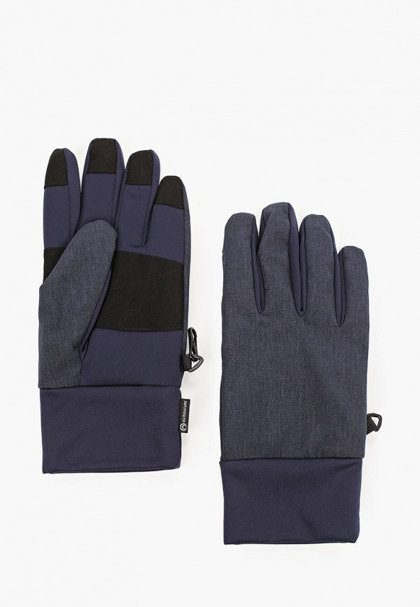 женские текстильные перчатки outventure, синие
