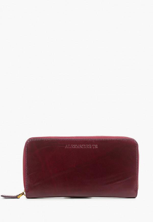 женский кошелёк alexander tsiselsky, бордовый
