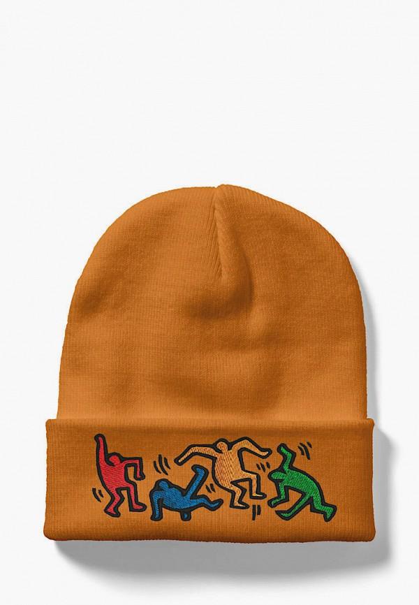 женская шапка headway, желтая