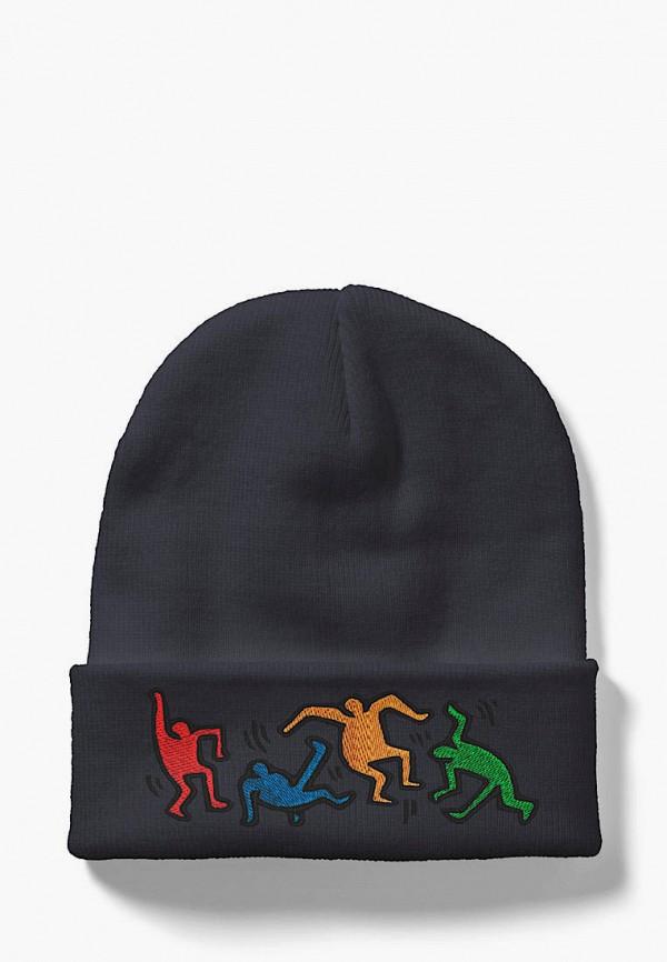 женская шапка headway, синяя