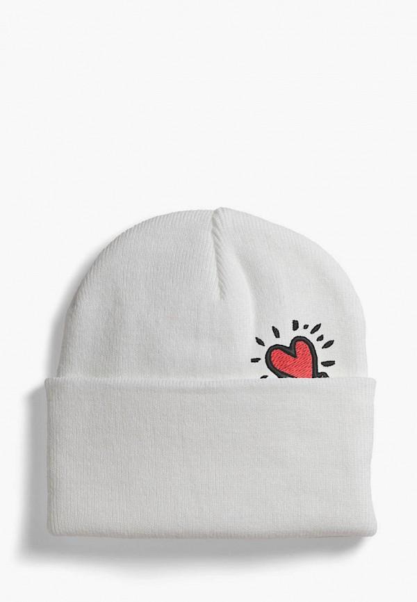 женская шапка headway, белая