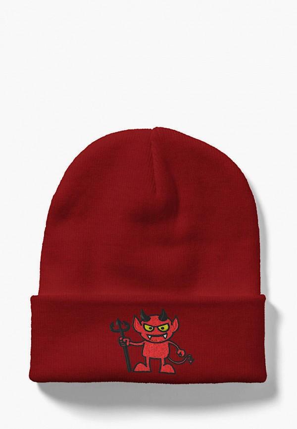 женская шапка headway, бордовая