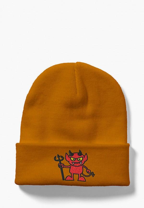 женская шапка headway, оранжевая