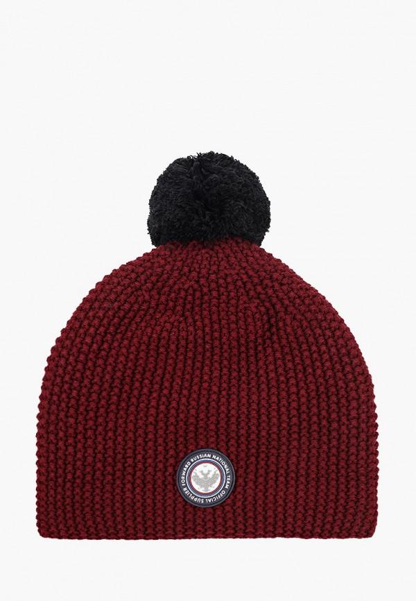 женская шапка forward, бордовая