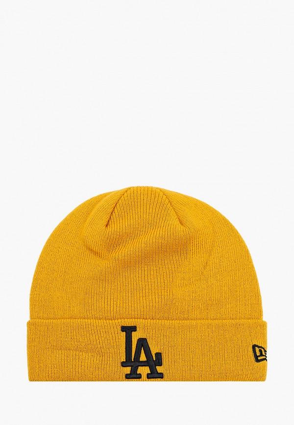женская шапка new era, желтая
