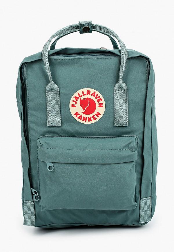 женский рюкзак fjällräven kånken, бирюзовый
