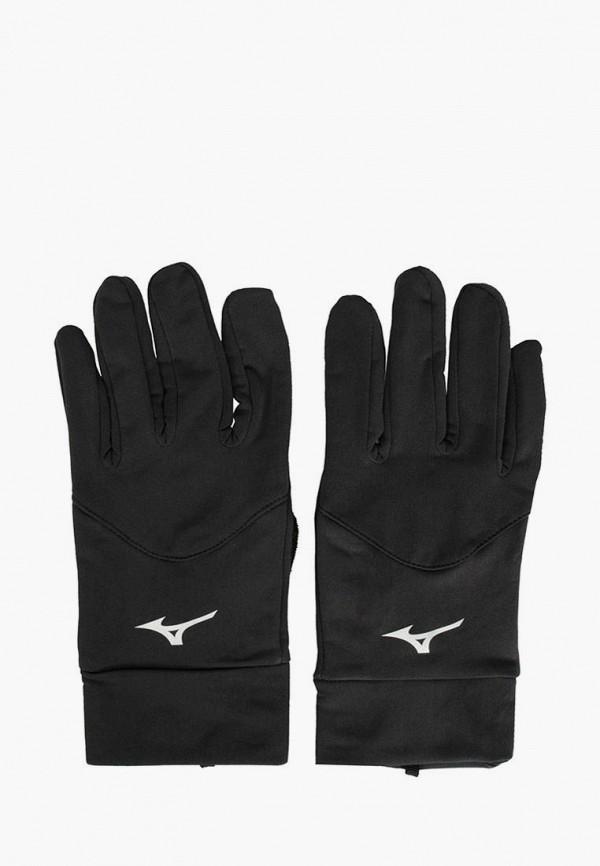 женские перчатки mizuno, черные