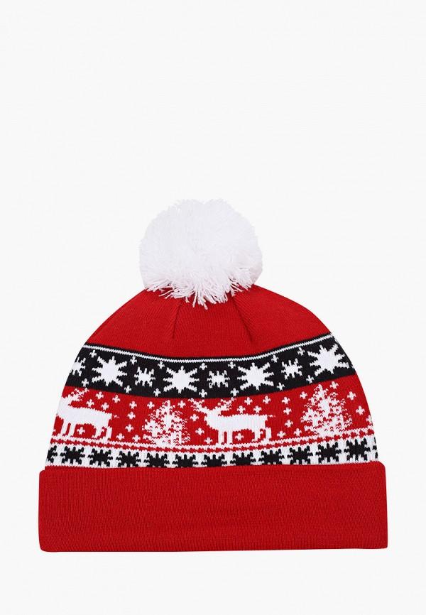 женская шапка new era, красная