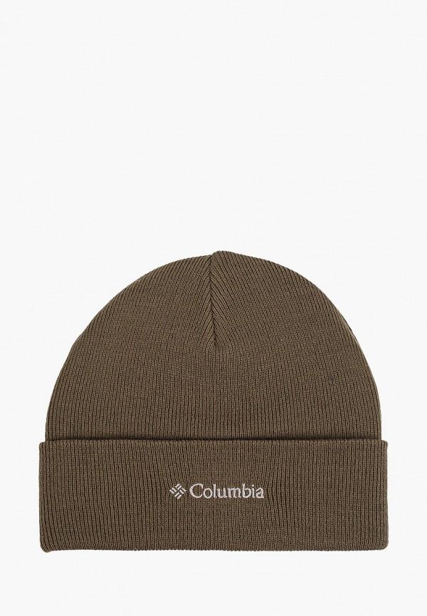женская шапка columbia, хаки