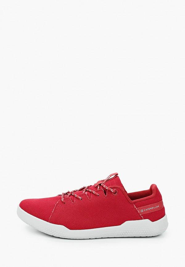 женские низкие ботинки caterpillar, красные
