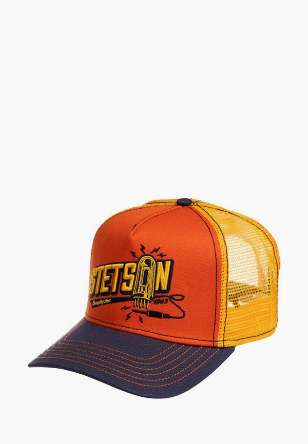 женская бейсболка stetson, оранжевая