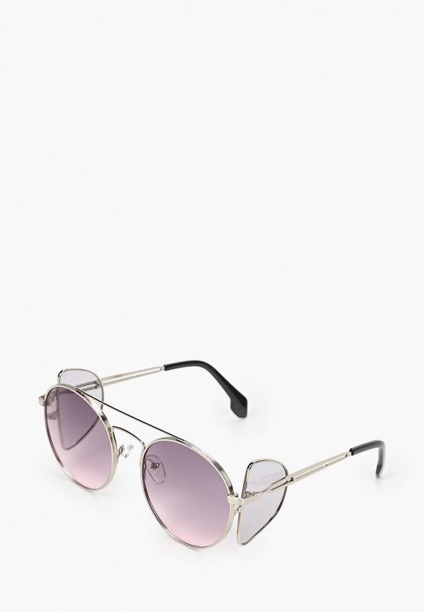 женские круглые солнцезащитные очки vitacci, серебряные