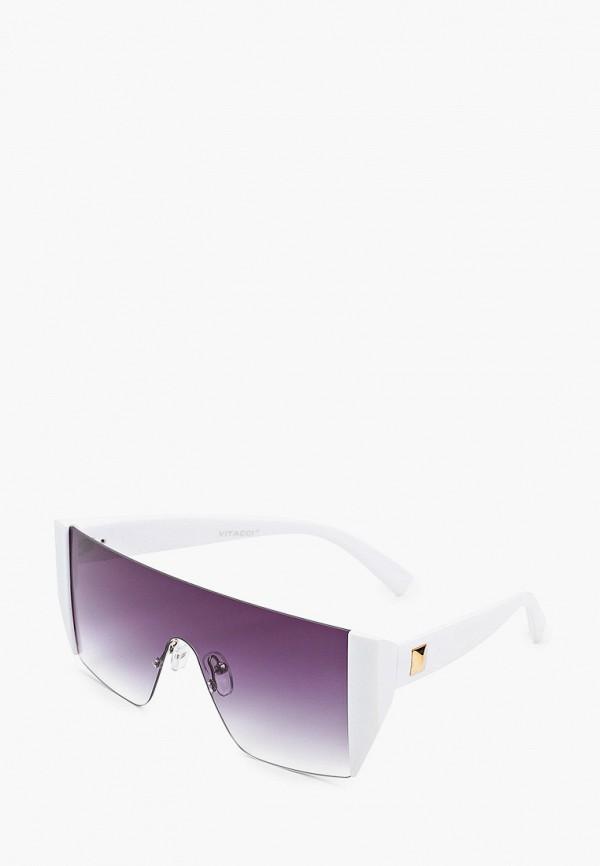 женские авиаторы солнцезащитные очки vitacci, белые