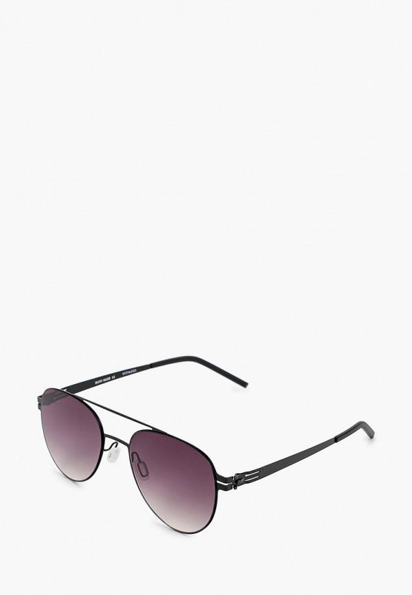 женские авиаторы солнцезащитные очки vitacci, черные