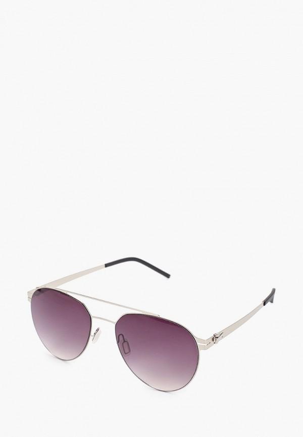 женские авиаторы солнцезащитные очки vitacci, серебряные