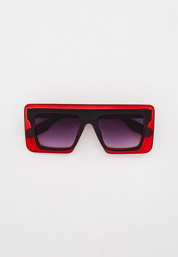 женские квадратные солнцезащитные очки bocciolo, красные