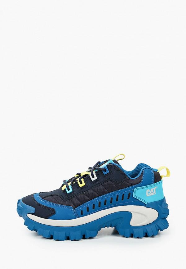 женские низкие кроссовки caterpillar, синие