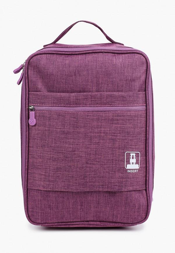 женская сумка для обуви routemark, фиолетовая