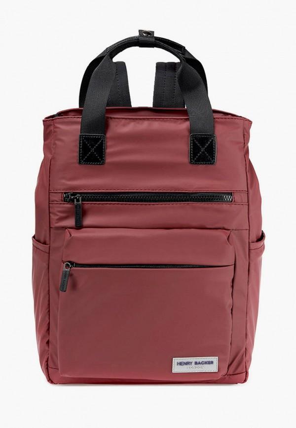 женский рюкзак henry backer, бордовый