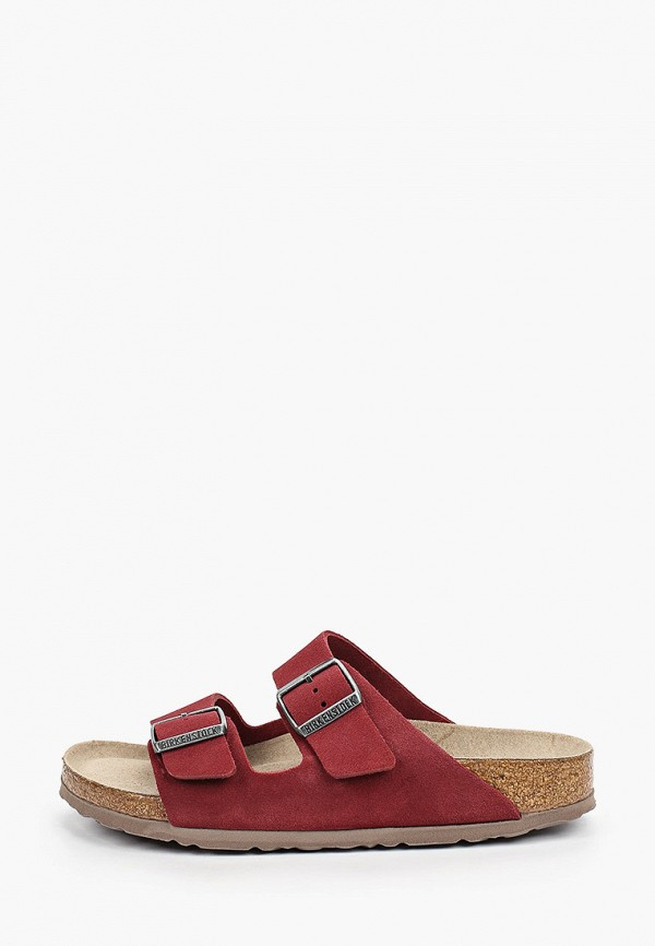 женские сандалии birkenstock, бордовые