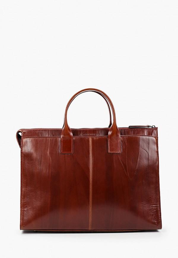 женский портфель alexander tsiselsky, коричневый