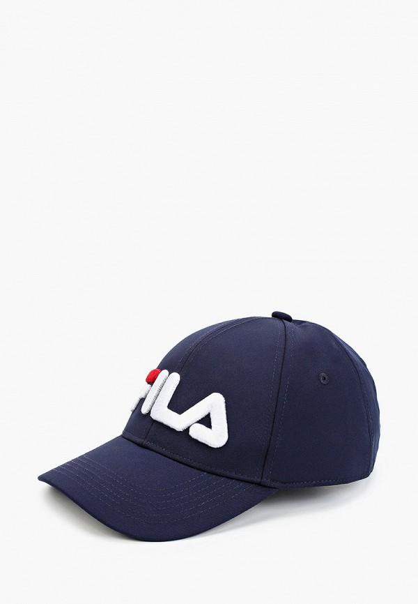 женская бейсболка fila, синяя