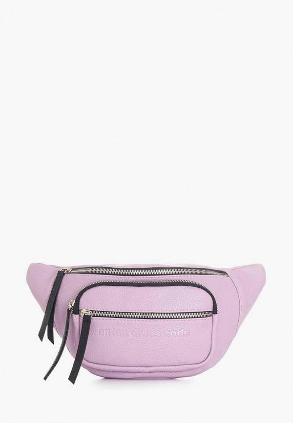 женская поясные сумка antan, фиолетовая