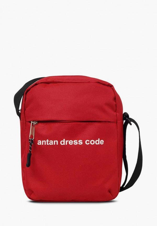 женская сумка через плечо antan, красная