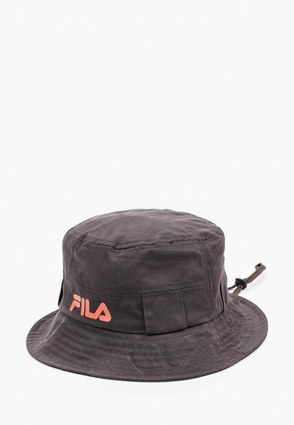 женская панама fila, коричневая