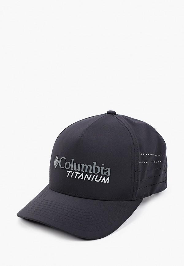 женская бейсболка columbia, черная