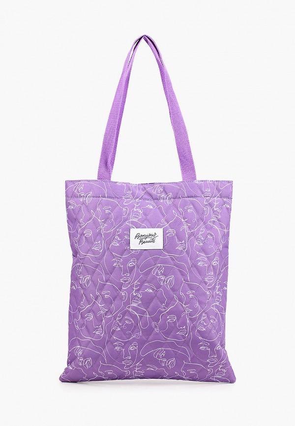 женская сумка-шоперы zakka, фиолетовая