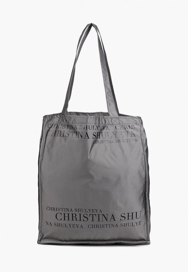 женская сумка-шоперы christina shulyeva, серая