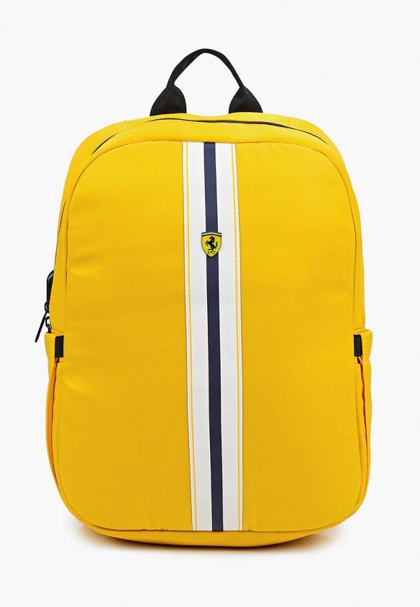 женский рюкзак ferrari, желтый