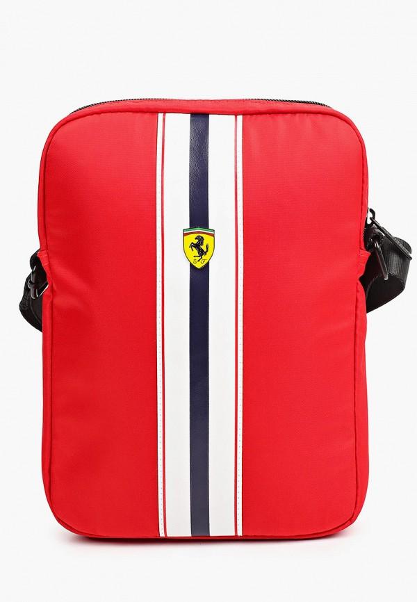 женская сумка через плечо ferrari, красная