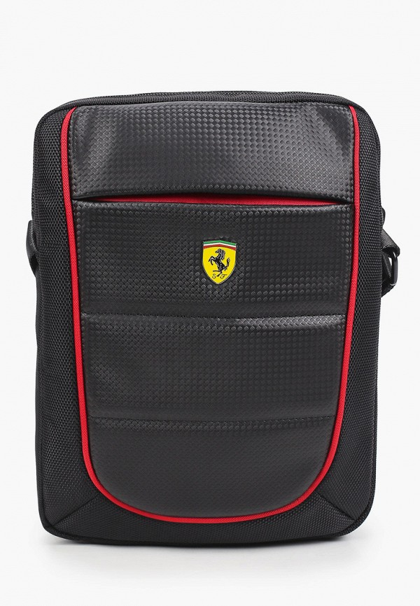 женская сумка через плечо ferrari, черная