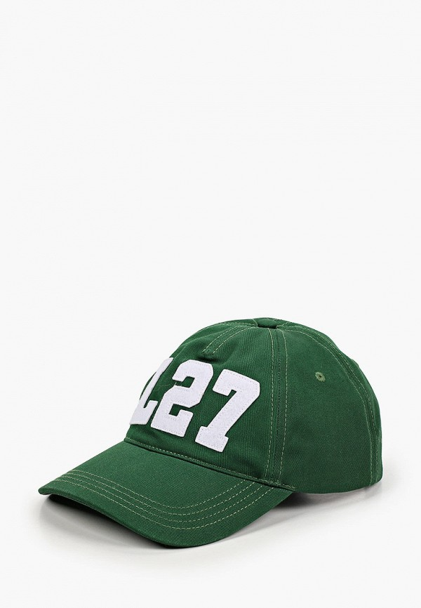 женская бейсболка lacoste, зеленая