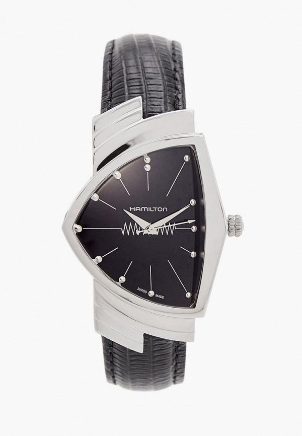 женские часы hamilton, черные