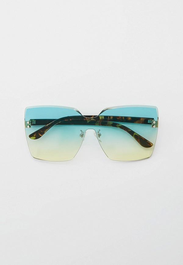 женские квадратные солнцезащитные очки bocciolo, бирюзовые